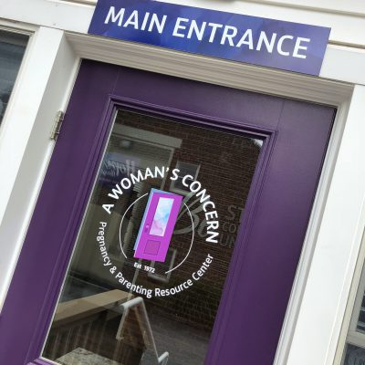 AWC Main Entrance Purple Door